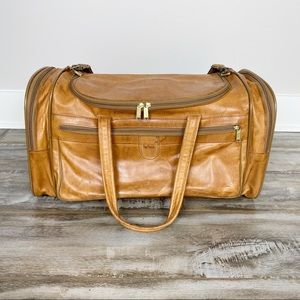 VINTAGE Hartmann Leather Duffle Bag Weekender